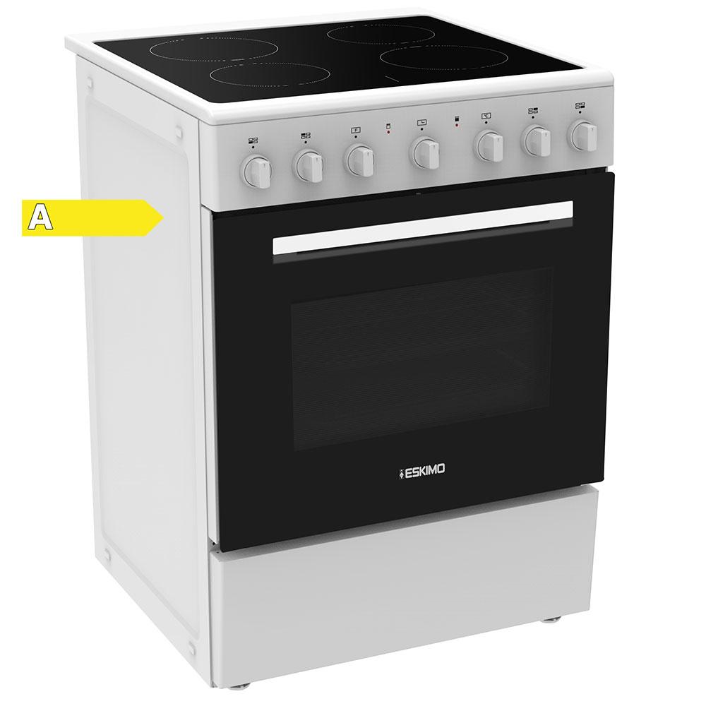 Eskimo ES 8030 Κεραμική Ηλεκτρική Κουζίνα