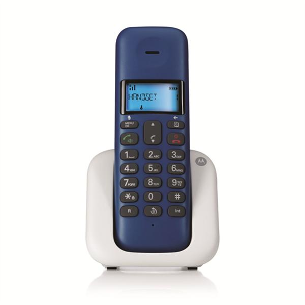 Motorola T301 Royal Blue Ασύρματο Τηλέφωνο