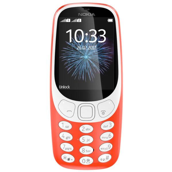 Nokia 3310 Red Dual Sim Kινητό Τηλέφωνο