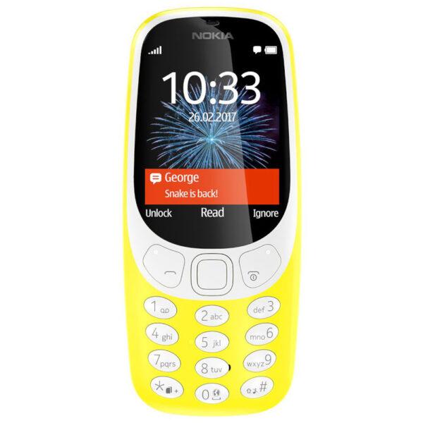 Nokia 3310 Yellow Dual Sim Kινητό Τηλέφωνο