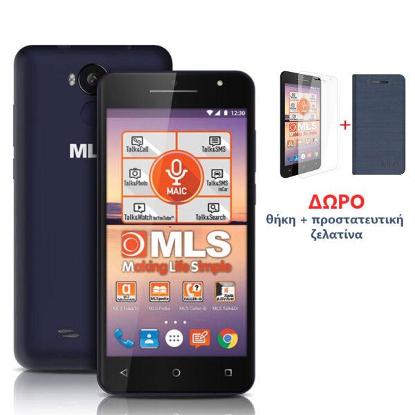 """MLS F5 Black-Blue Smartphone 5"""" 3G DS 2GB/16GB"""