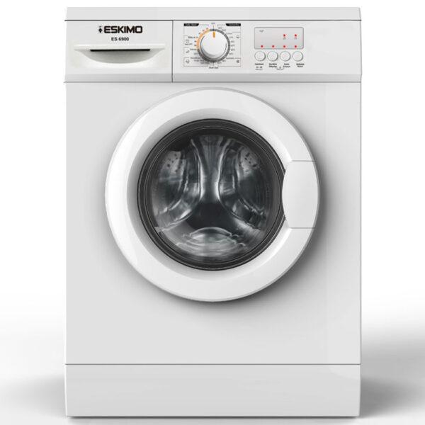 Eskimo ES 6900 πλυντήριο ρούχων εμπρόσθιας φόρτωσης, χωρητικότητας 6kg, 1000 στροφών, με 23 προγράμματα, οθόνη Led και ενεργειακής κλάσης A++ για μεγαλύτερη εξοικονόμηση ενέργειας.