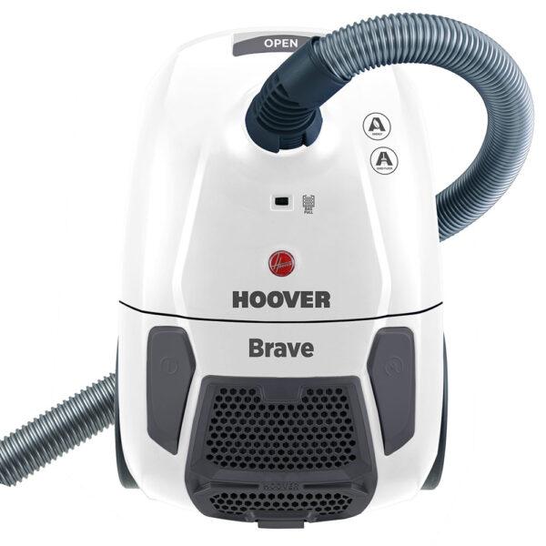 Hoover Brave BV11011 ηλεκτρική σκούπα με σακούλα Hygienic, χωρητικότητας 2.3lt, με περιστρεφόμενο εύκαμπτο σωλήνα, αυτόματο σύστημα τυλίγματος καλωδίου και ενεργειακής κλάσης A.