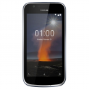 "Nokia 1 Blue Smartphone 4G, με οθόνη IPS 4,5"", διπλή Sim, εσωτερική μνήμη 8GB, εμπρόσθια κάμερα 2MP και πίσω 5MPμε φλας LED."