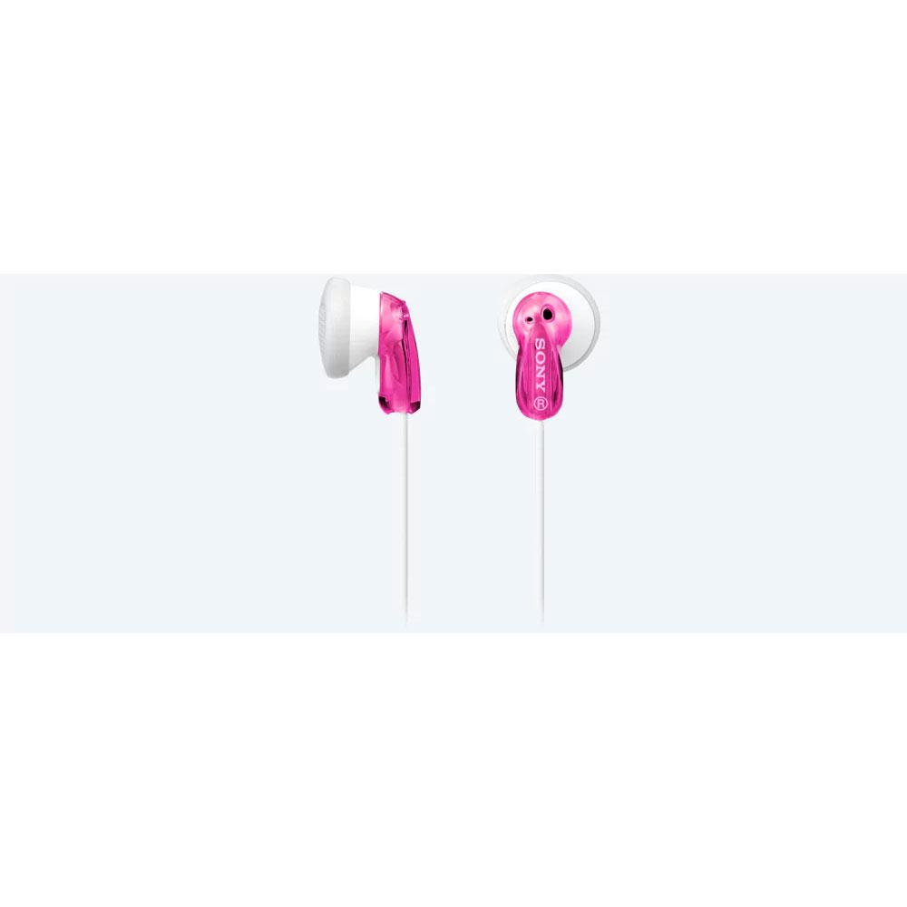 Sony MDRE9LPP.AE ακουστικά ροζ, διαθέσιμα σε μεγάλη σειρά χρωμάτων, με ανθεκτικό και ελαφρύ καλώδιο 1,2 m, για να ακούτε την αγαπημένη σας μουσική δυνατά και καθαρά μέσω του WALKMAN®, iPod ή της συσκευής αναπαραγωγής MP3.