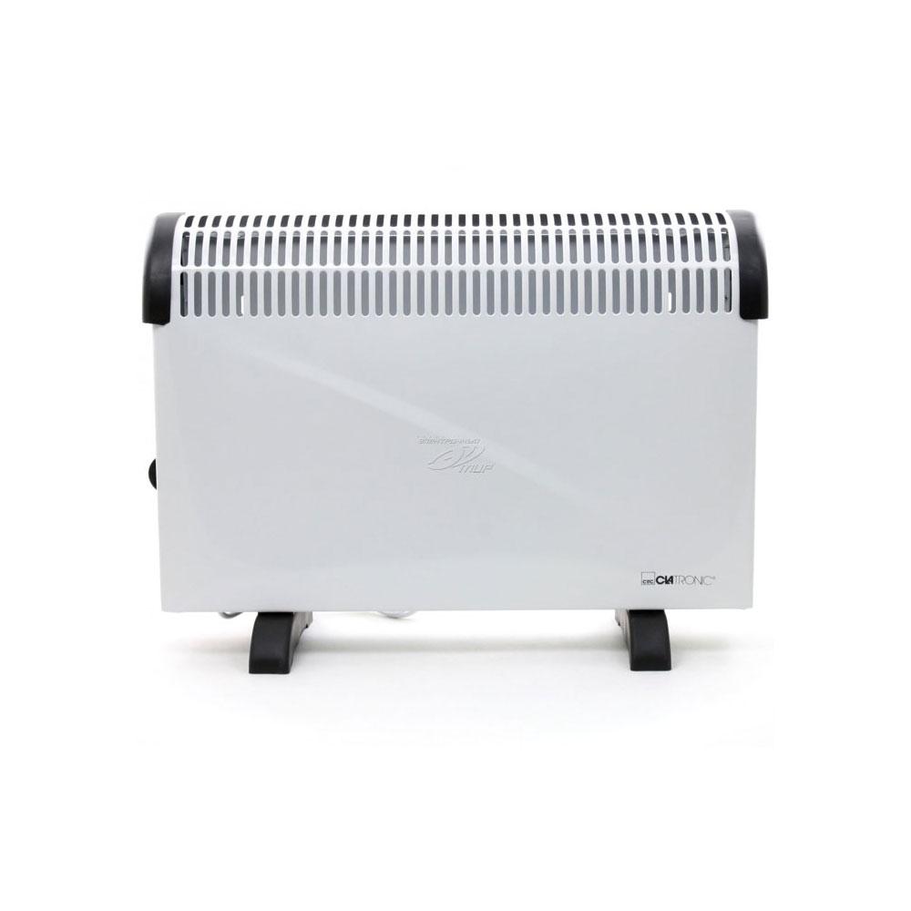 Clatronic CL KH 3077 ηλεκτρική θερμάστρα-Convector, με αναλογικό ρυθμιζόμενο θερμοστάτη, ενδεικτική λυχνία λειτουργίας, προστασία υπερθέρμανσης και δυνατότητα εγκατάστασης στον τοίχο.