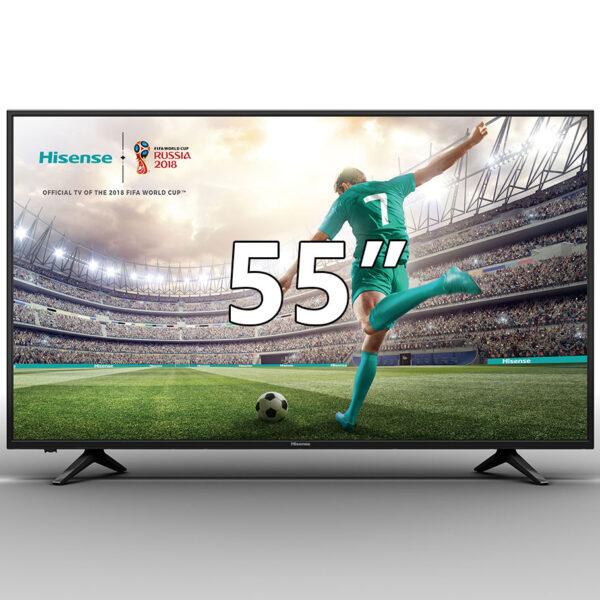 Hisense H55A6100 Smart UHD DLED τηλεόραση 55″, με ανάλυση UHD 4K της Hisense, το πολυβραβευμένο σύστημα ήχου dbx-tv,λειτουργικό σύστημα VIDAA U και τεχνολογία HDR.