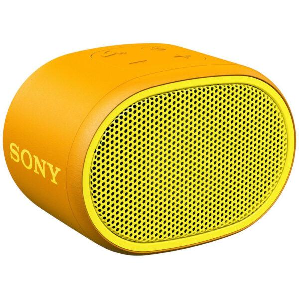 Sony SRSXB01Υ ηχείο Bluetooth κίτρινο, με τεχνολογία EXTRA BASS, βαθμό προστασίας IPX5, διάρκεια μπαταρίας έως και 6 ώρες,λουράκι σε ίδιο χρώμα με το ηχείο και αδιάβροχη σχεδίαση για ξέγνοιαστη χρήση.