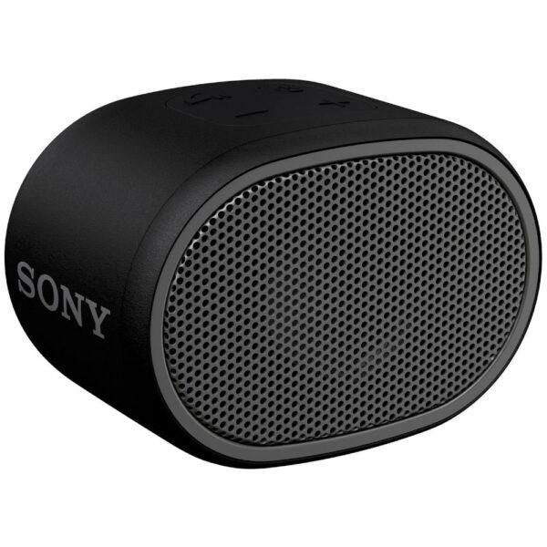 Sony SRSXB01 ηχείο Bluetooth μαύρο, με τεχνολογία EXTRA BASS, βαθμό προστασίας IPX5, διάρκεια μπαταρίας έως και 6 ώρες,λουράκι σε ίδιο χρώμα με το ηχείο και αδιάβροχη σχεδίαση για ξέγνοιαστη χρήση.