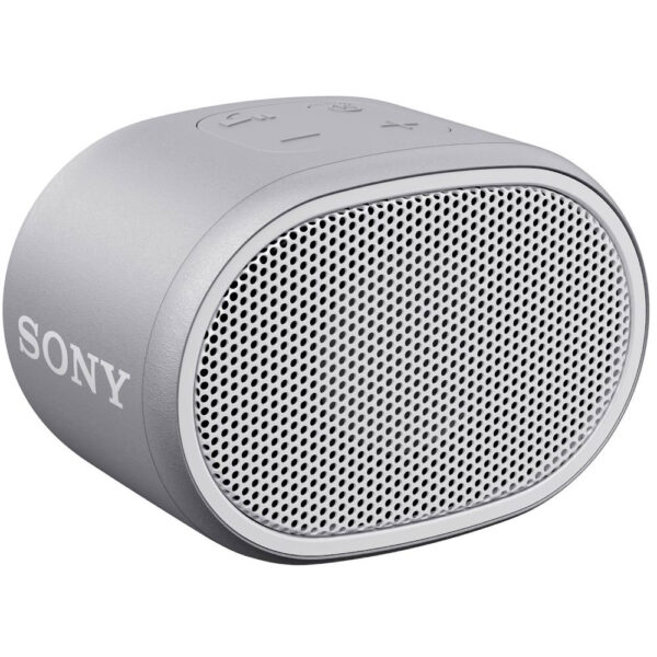 Sony SRSXB01W ηχείο Bluetooth γκρι, με τεχνολογία EXTRA BASS, βαθμό προστασίας IPX5, διάρκεια μπαταρίας έως και 6 ώρες,λουράκι σε ίδιο χρώμα με το ηχείο και αδιάβροχη σχεδίαση για ξέγνοιαστη χρήση.