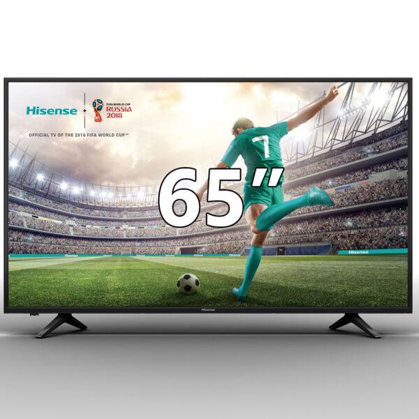 Hisense H65A6140 UHD Smart 4K τηλεόραση 65″, με ανάλυση UHD 4K της Hisense, λειτουργικό σύστημα VIDAA U και τεχνολογία HDR.