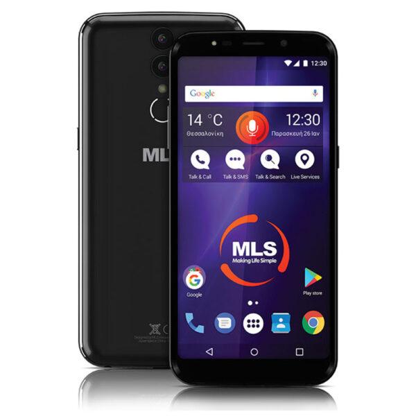 "MLS MX Plus 4G DS 5.99"" Black 4GB/32GB, με οθόνη LCD IPS (1080*2160 FHD+), μπαταρία 3000mAh, οκταπύρηνο επεξεργαστή 1.5 GHz 64bit, 32GB εσωτερική μνήμη και 4GB RAM."