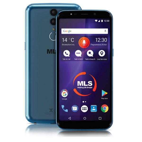 "MLS MX Plus 4G DS 5.99"" Blue 4GB/32GB, με οθόνη LCD IPS (1080*2160 FHD+), μπαταρία 3000mAh, οκταπύρηνο επεξεργαστή 1.5 GHz 64bit, 32GB εσωτερική μνήμη και 4GB RAM."