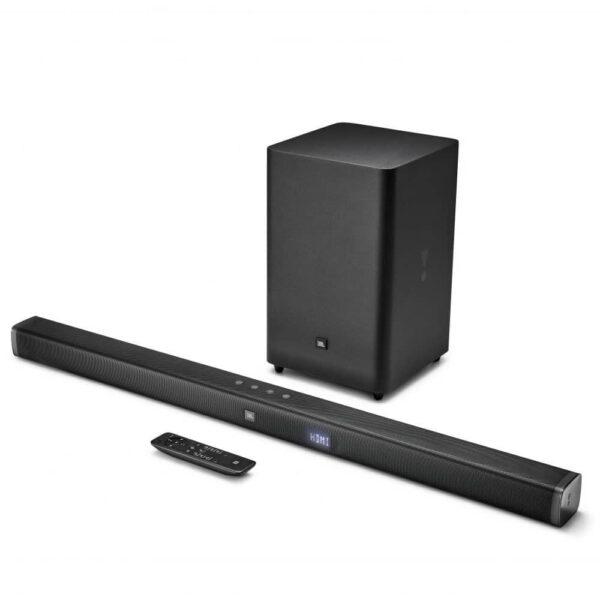JBL Bar 21 2.1 Soundbar με wireless subwoofer, 300W ισχύ, 1 HDMI IN/ 1 HDMI out (ARC), ασύρματη αναπαραγωγή μέσω Bluetooth και TV Remote Control.